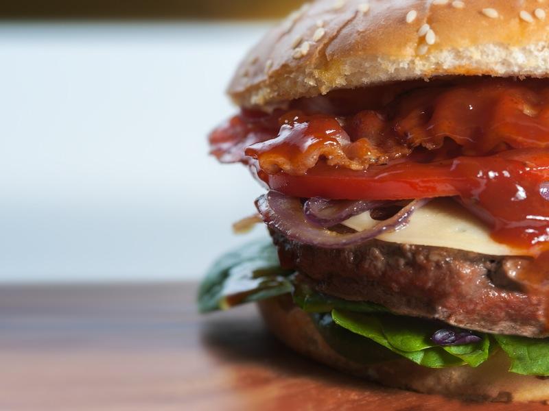 street food - fast food - hamburger